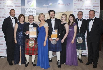 Photograph of apprentice baker Murray at the Scottish Young Baker of the Year Award
